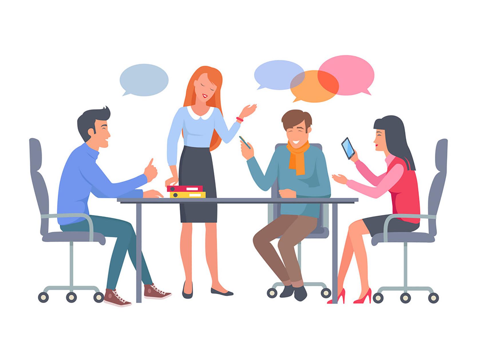 در کار گروهی، با اعضا معاشرت کنید.